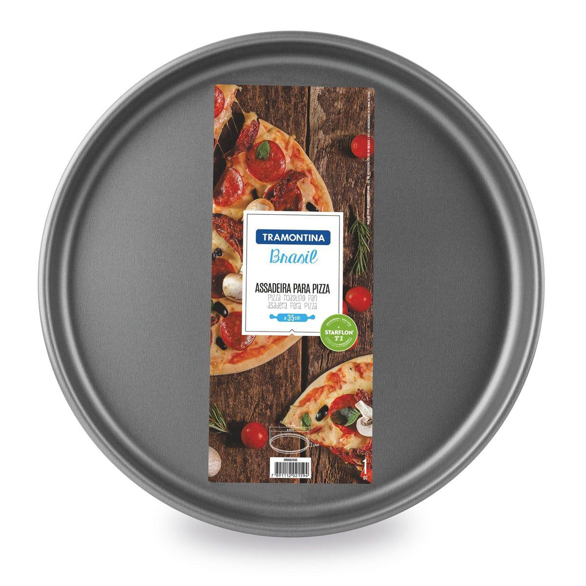 Assadeira para pizza de alumínio com revestimento interno antiaderente Ø35cm 20058/035 | Lojas Estrela