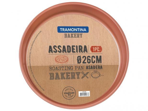 Assadeira Tramontina Grafite Redonda em Alumínio com Revestimento Interno Cobre Antiaderente Starflon T1 26 cm 2,5 L 27814/007 | Lojas Estrela