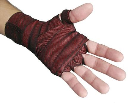 Bandagem elástica vermelha 4M x 40mm PAR Deveras