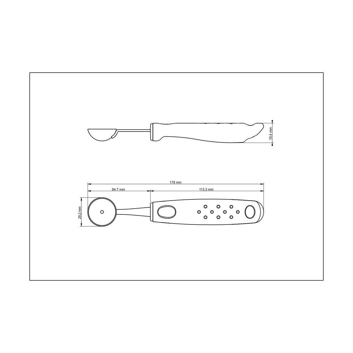 Boleador Tramontina em Aço Inox com Cabo Azul Polipropileno 2,9 cm 25626/113 | Lojas Estrela