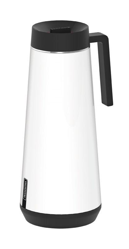 Bule Térmico Tramontina Exata em Aço Inox Branco com Infusor 1 L 61644/104 | Lojas Estrela