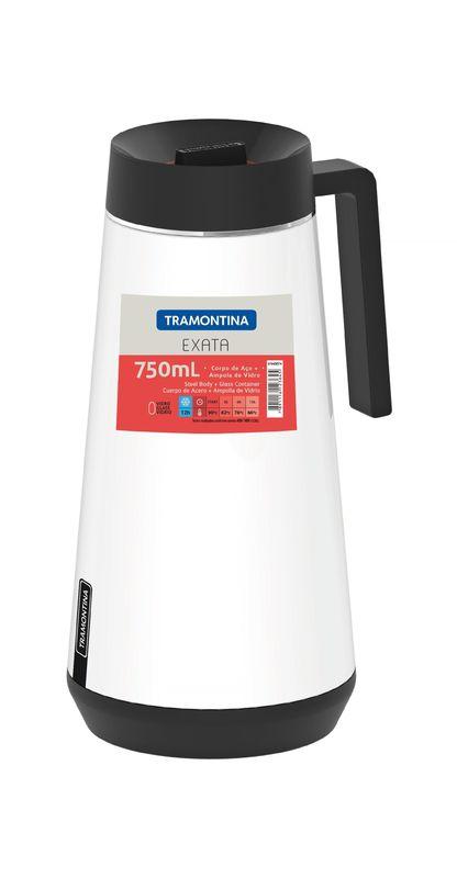 Bule Térmico Tramontina Exata em Aço Inox Branco sem Infusor 750 ml 61645/074 | Lojas Estrela