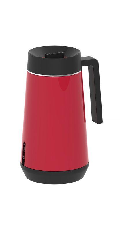 Bule Térmico Tramontina Exata em Aço Inox Vermelho com Infusor 750 ml 61644/076   Lojas Estrela
