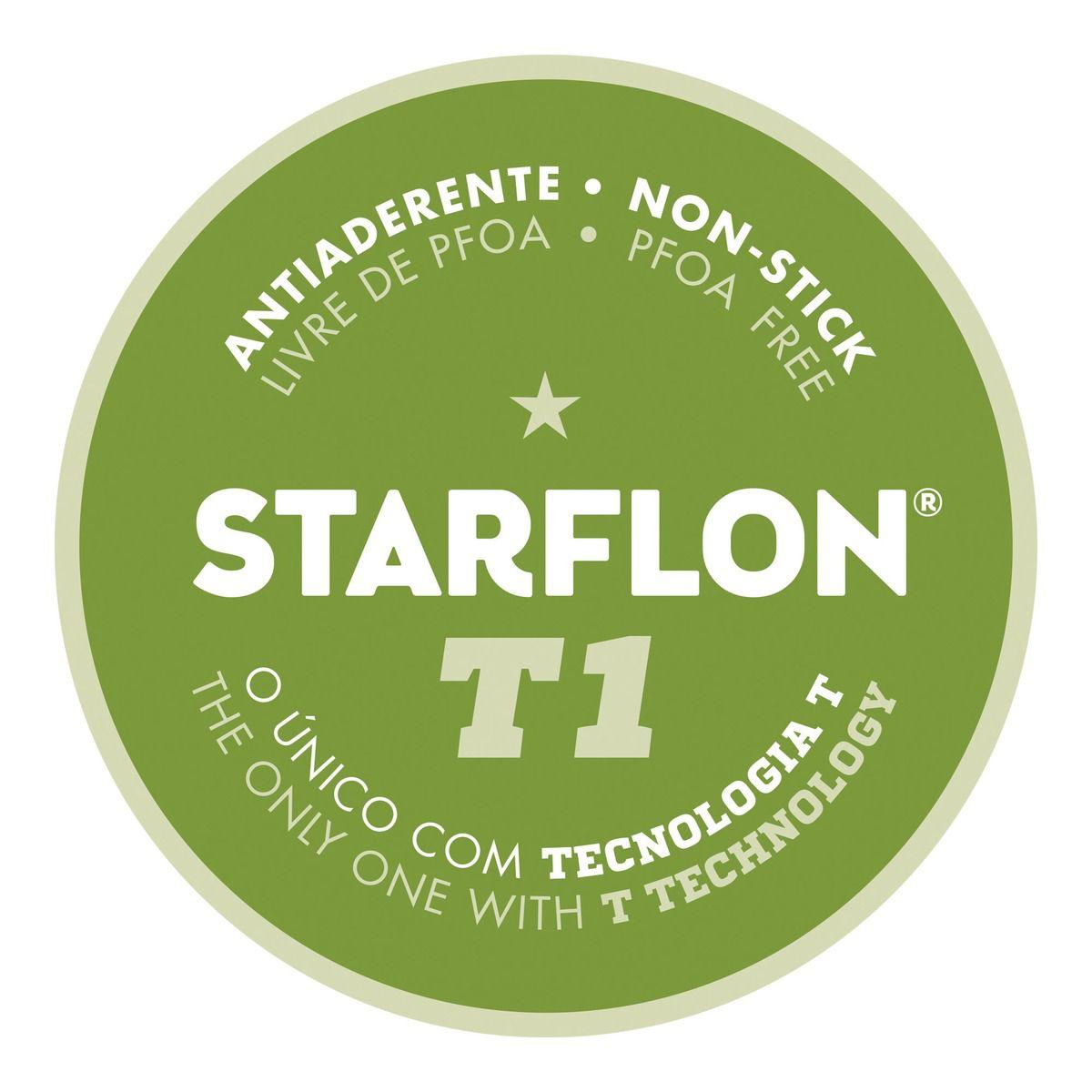 Caçarola em Alumínio com Revestimento Interno Antiaderente Starflon T1 Ø18cm 20383/018   Lojas Estrela