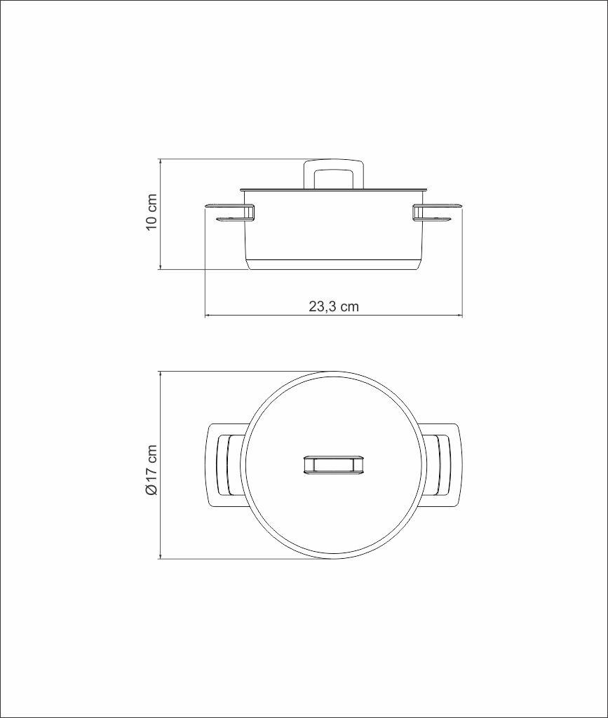 Caçarola Tramontina Aço Inox 2 alça Brava 62403/160