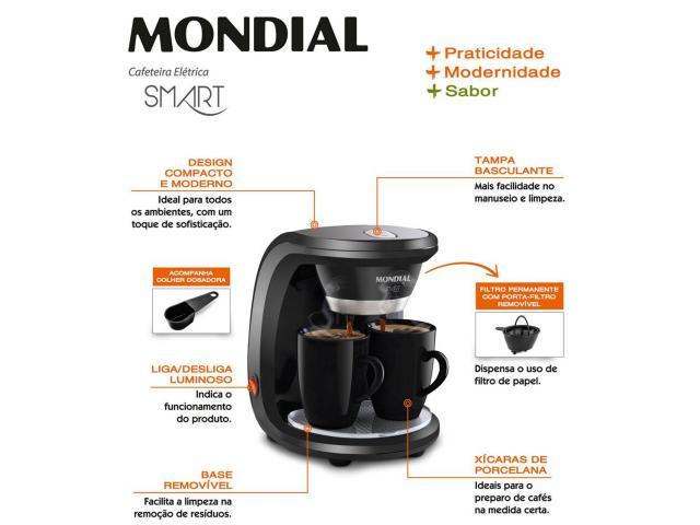 Cafeteira Eletrica 110V Mondial Smart C-18