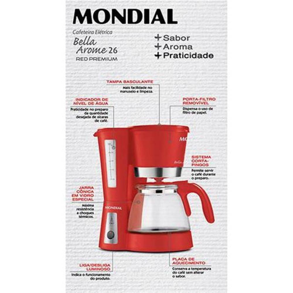 Cafeteira Mondial 220V Bella Arome | Lojas Estrela