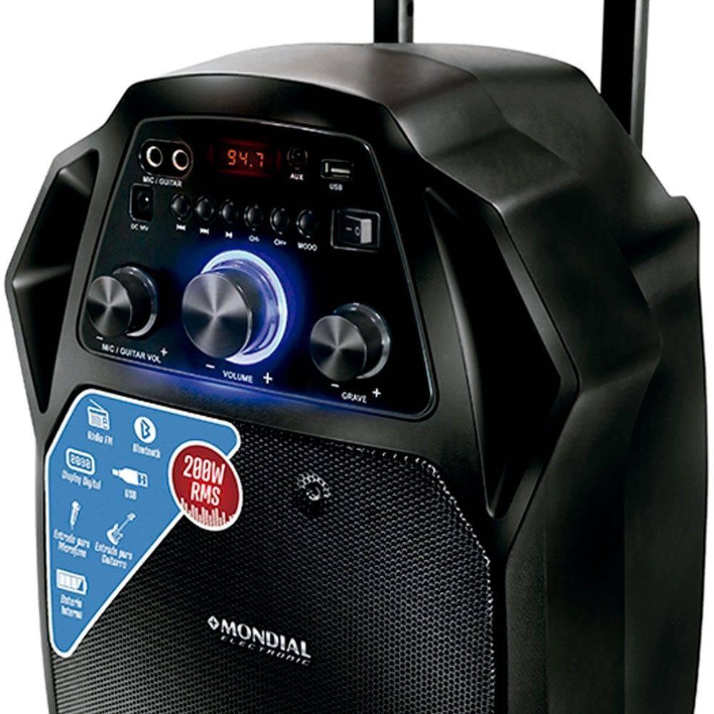 Caixa Amplificada Mondial Bluetooth CM-08 Bivolt