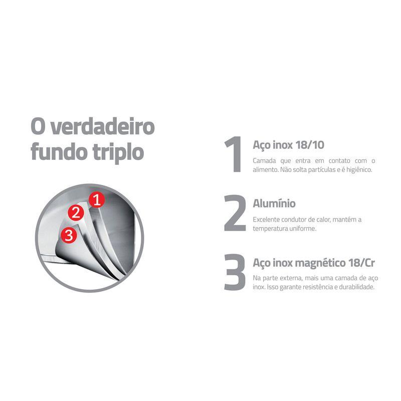 Chaleira Tramontina Aço Inox 1,5L Fundo Triplo