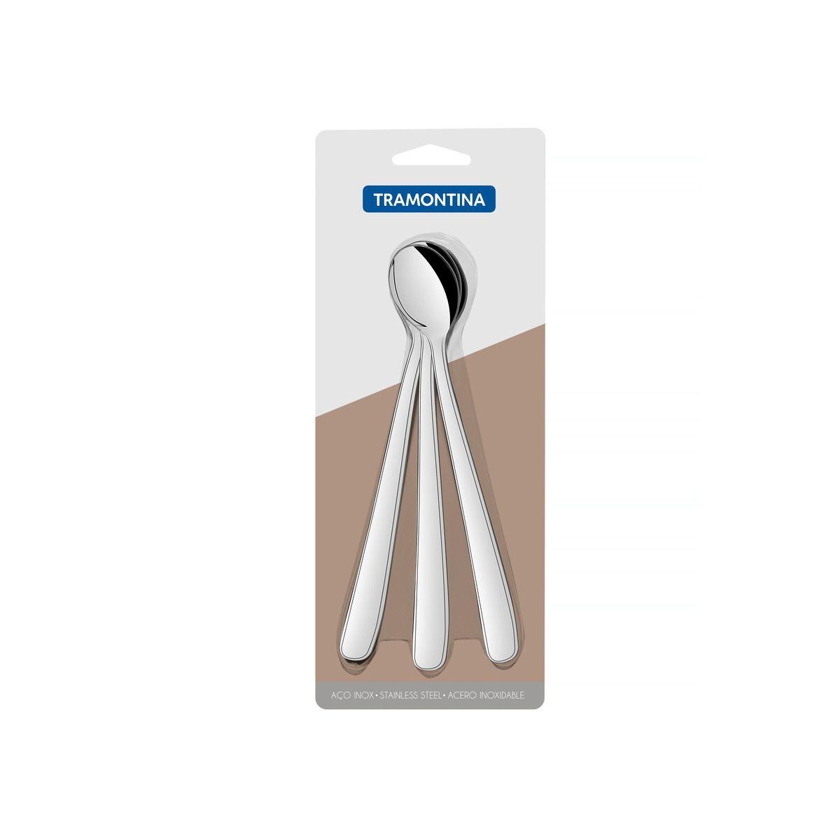 Conjunto de colheres para refresco aço inox 3 pç. 66902/201 | Lojas Estrela