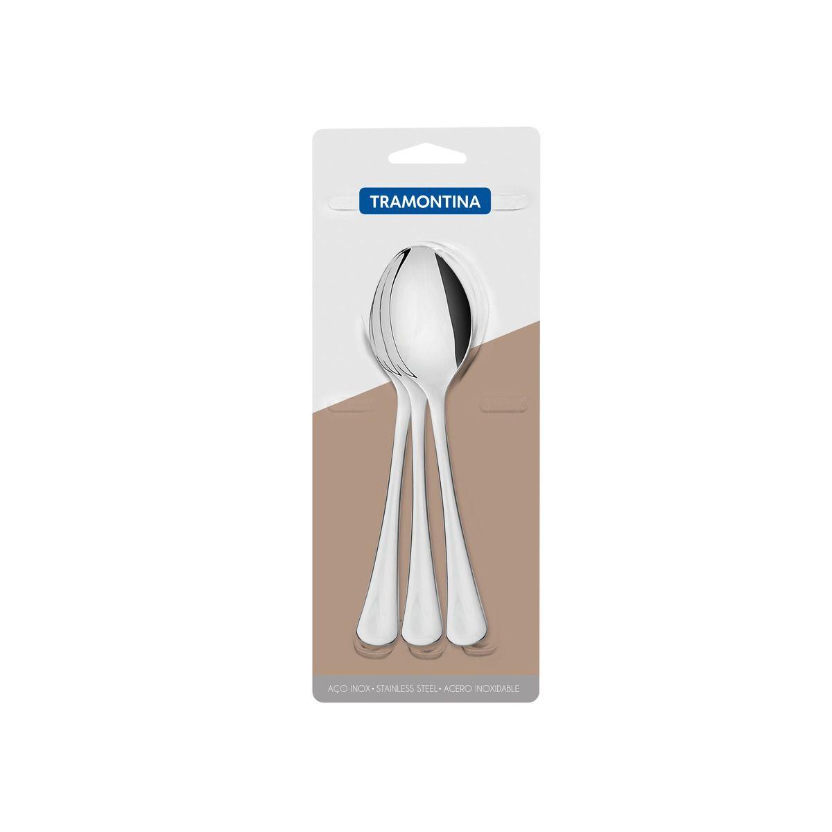 Conjunto de colheres para sobremesa aço inox 3 pç 66945/041 | Lojas Estrela