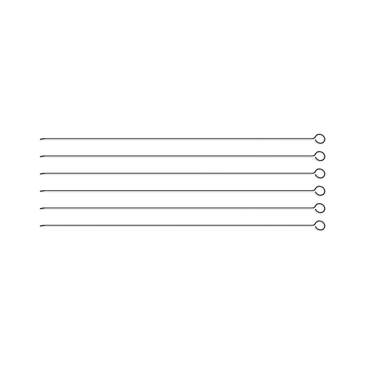 Conjunto de Espetinhos Tramontina em Aço Inox 40 cm 6 Peças 26499/005 | Lojas Estrela