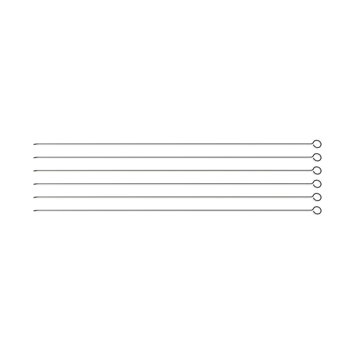 Conjunto de Espetinhos Tramontina em Aço Inox 50 cm 6 Peças 26499/006 | Lojas Estrela