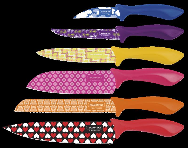 Conjunto de Facas Tramontina Color Cut 23099/932