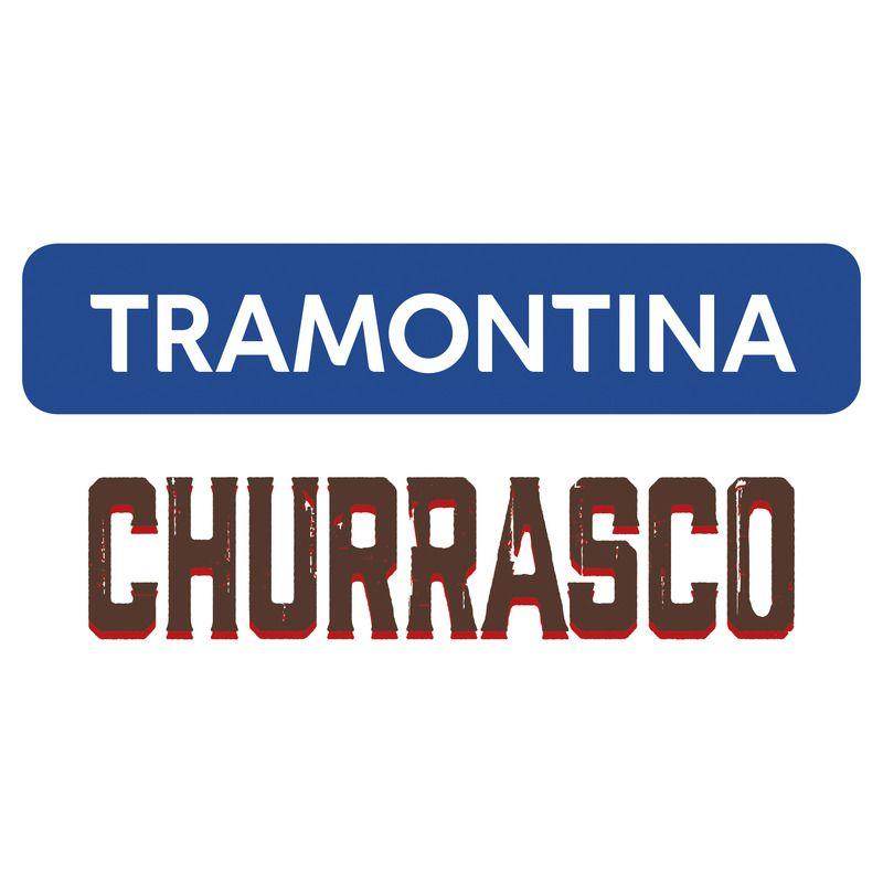 Conjunto de Garfos Jumbo para Churrasco Tramontina em Aço Inox Castanho 21199/997