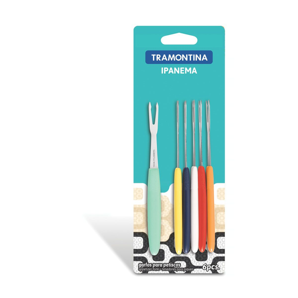 Conjunto de garfos para petiscos 6 peças 23399/400 | Lojas Estrela
