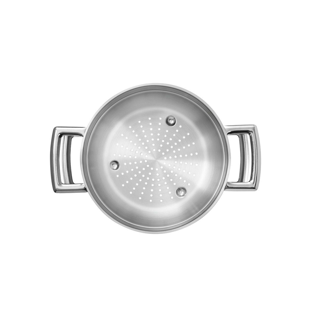Cozi-Vapore Brava Tramontina em Aço Inox com Alça 20 cm 2,2 L 62410/200 | Lojas Estrela