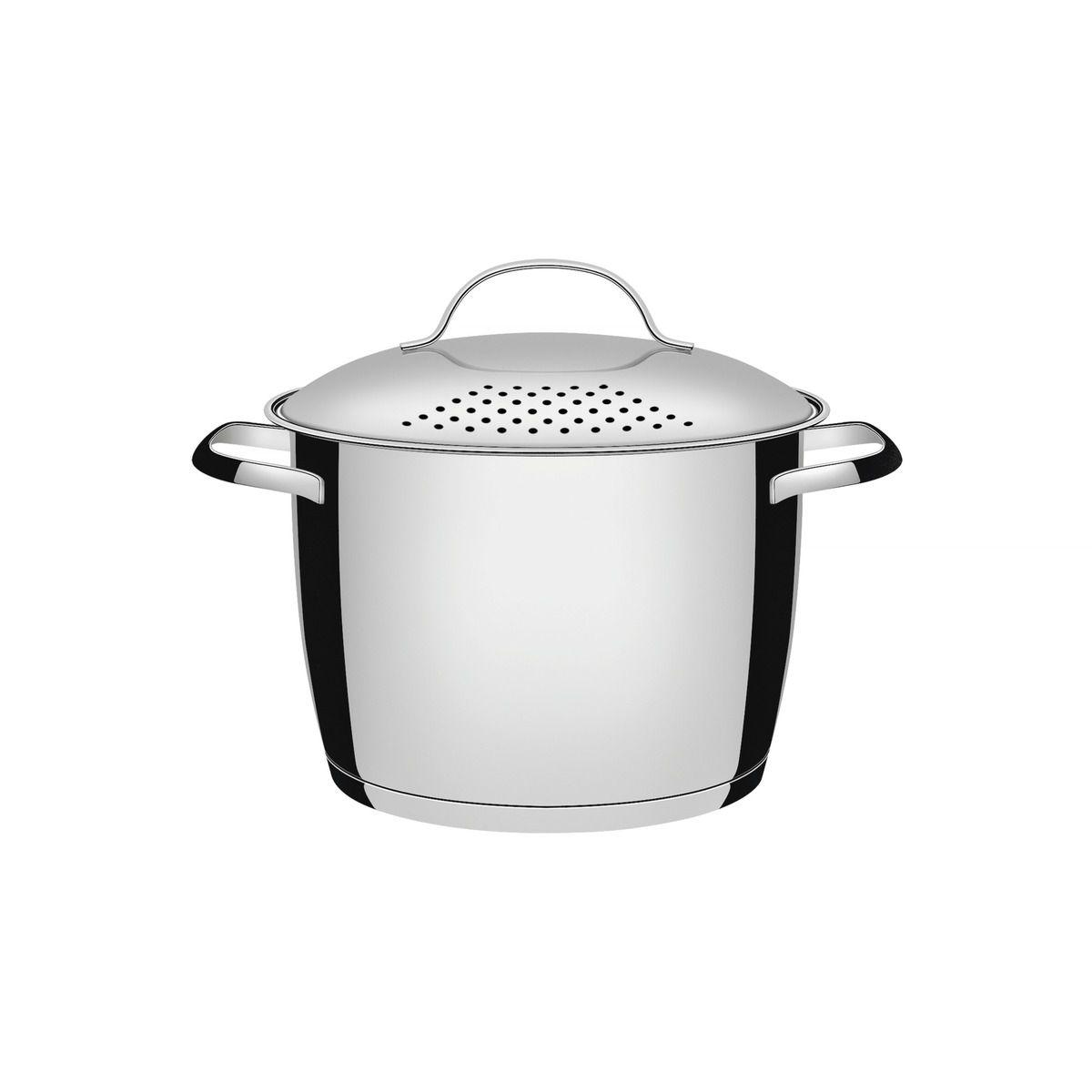 Espagueteira Tramontina Allegra em Aço Inox com Fundo Triplo 22 cm 5,5 L 62667/223   Lojas Estrela