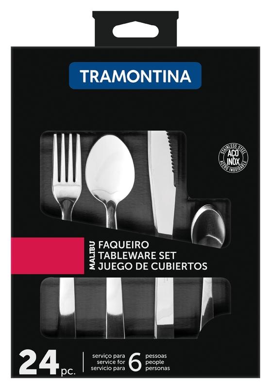 Faqueiro Malibu Tramontina Inox 24PC - 23798/046