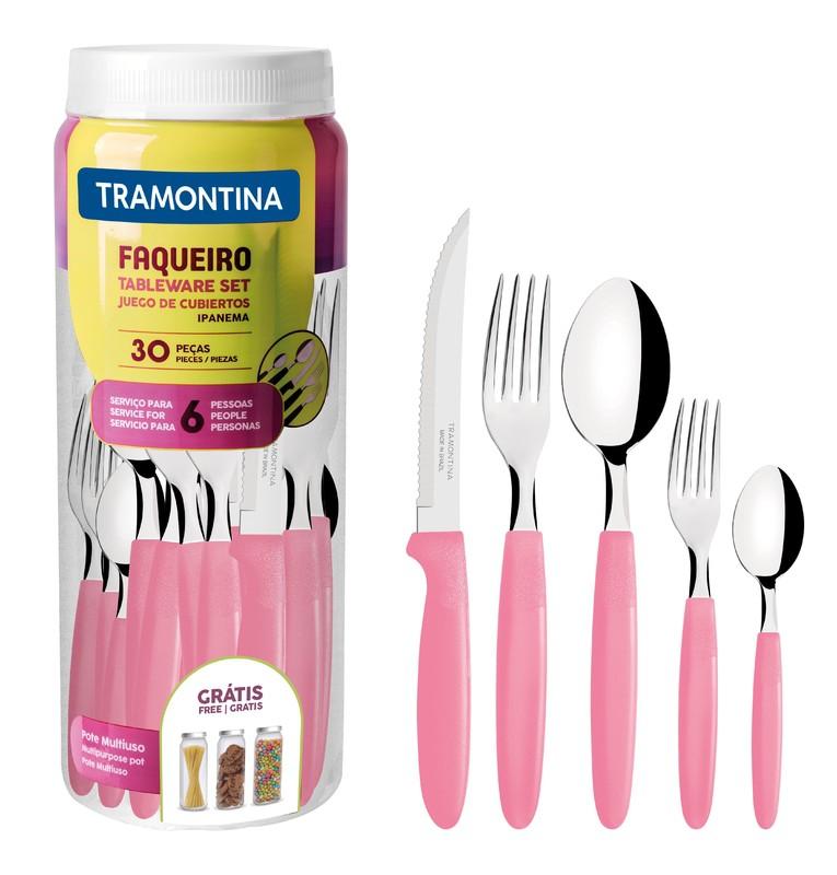FAQUEIRO INOX 30PC IPANEMA ROS TRAMONTINA 23398/488