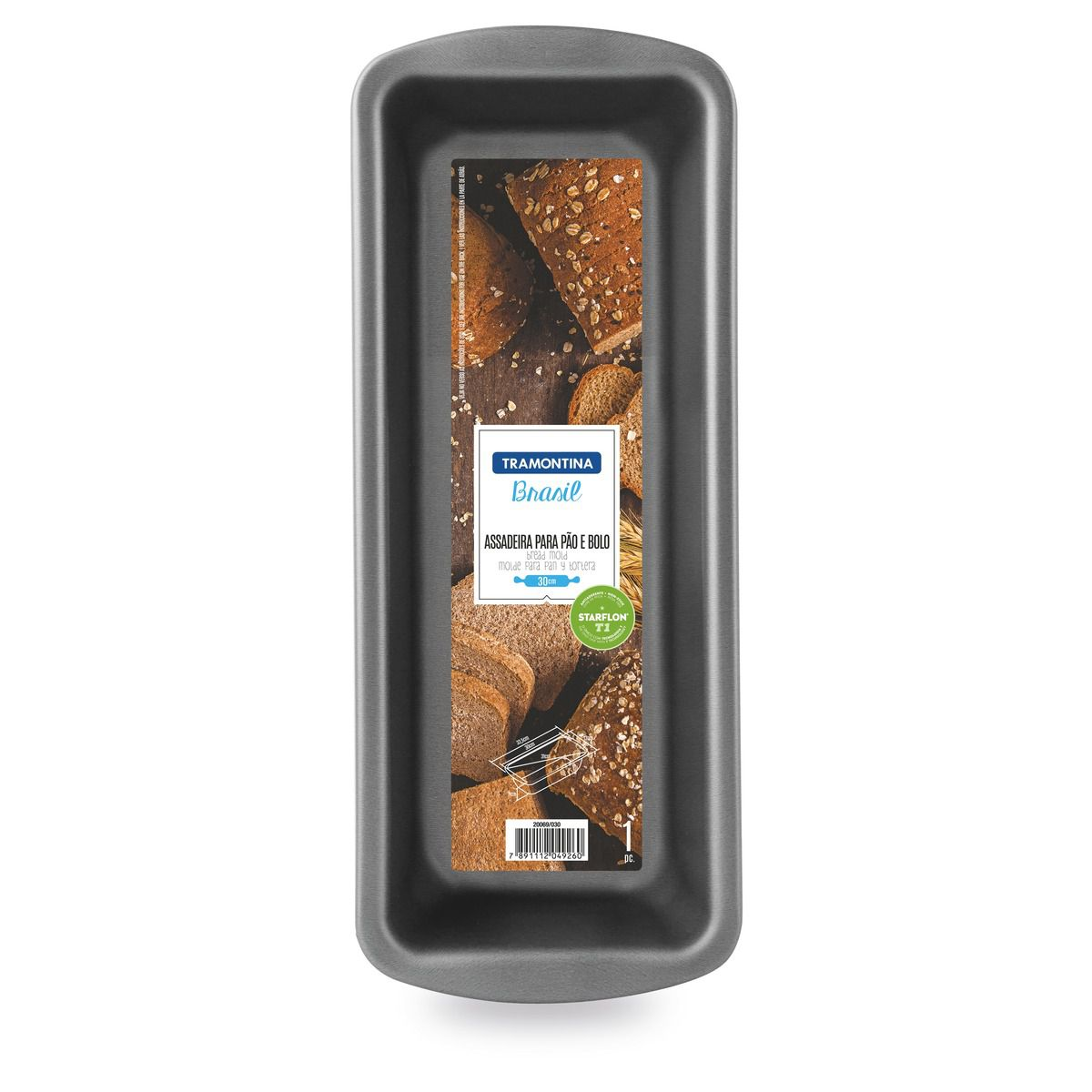 Forma para pão e bolo de alumínio com revestimento interno antiaderente 22cm 20069/022 | Lojas Estrela