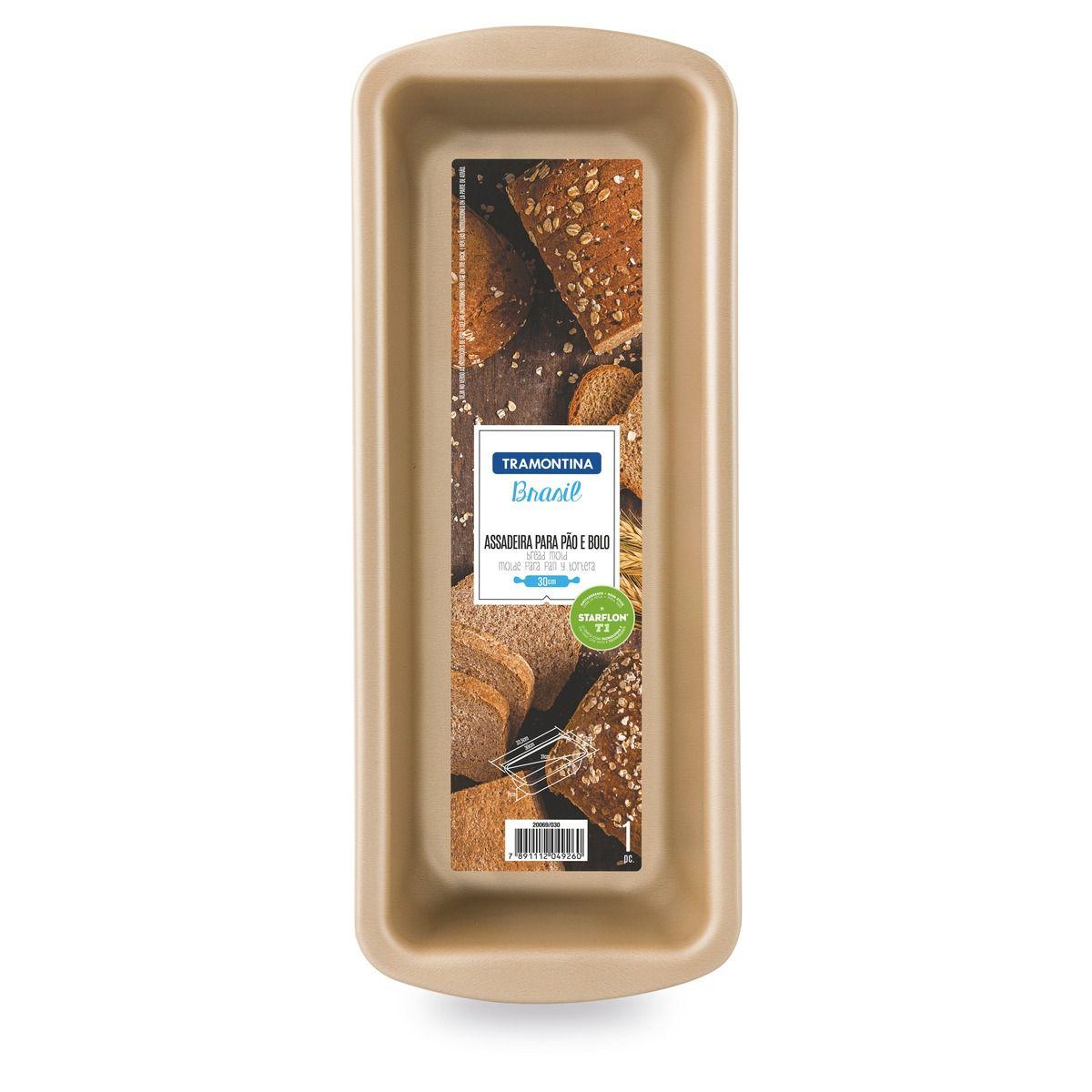 Forma para pão e bolo de alumínio com revestimento interno antiaderente 30cm 20069/730 | Lojas Estrela