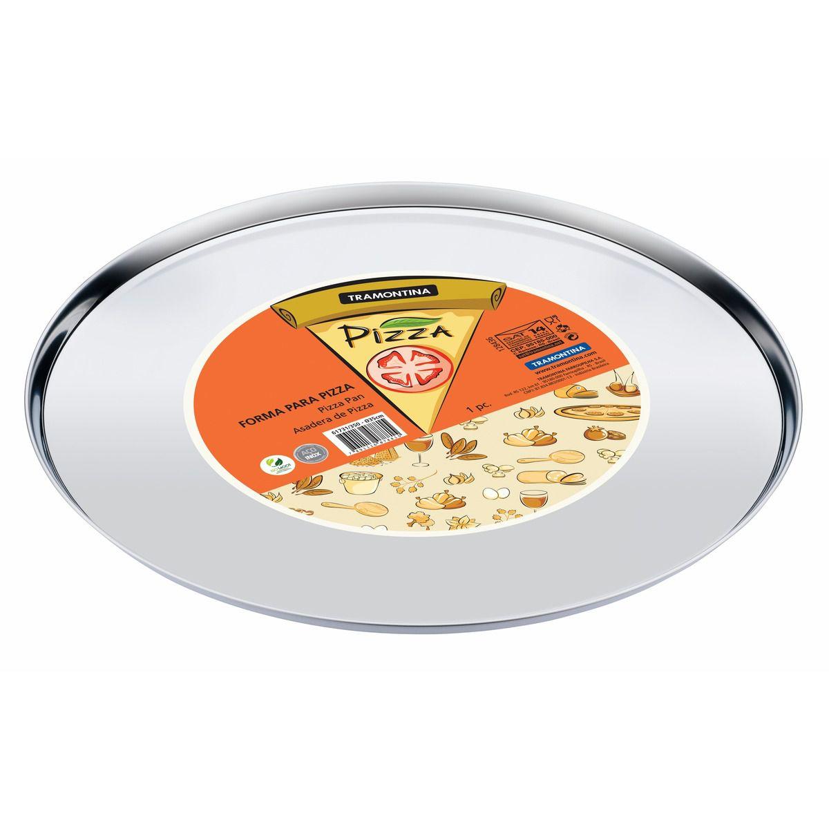 Forma para Pizza Tramontina em Aço Inox 35 cm 61731/350 | Lojas Estrela