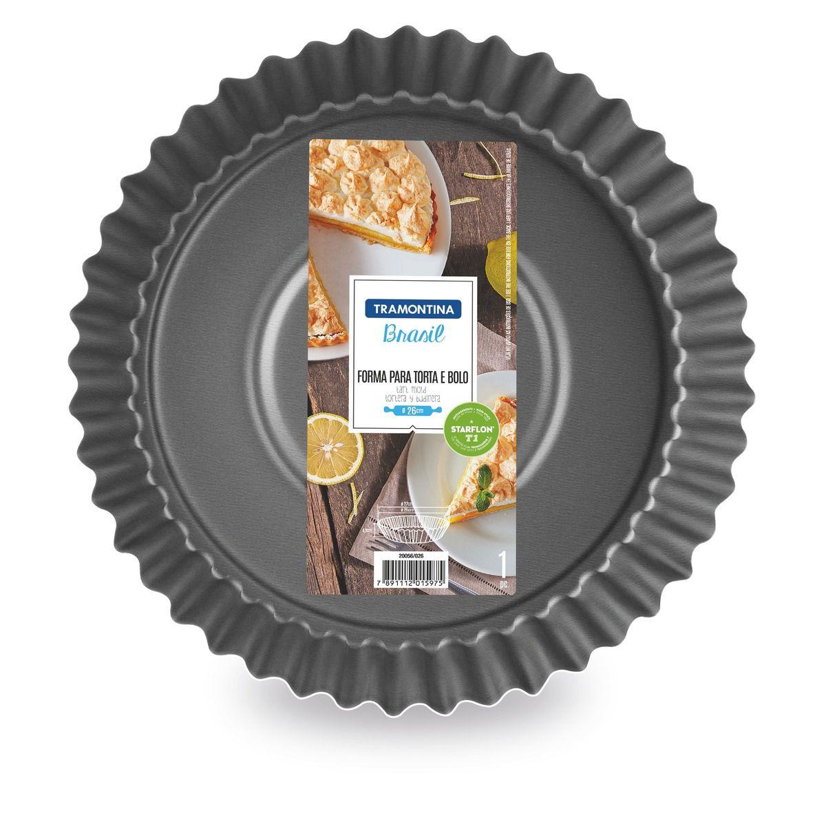 Forma para torta e bolo de alumínio com revestimento interno antiaderente Ø22cm 20056/022 | Lojas Estrela
