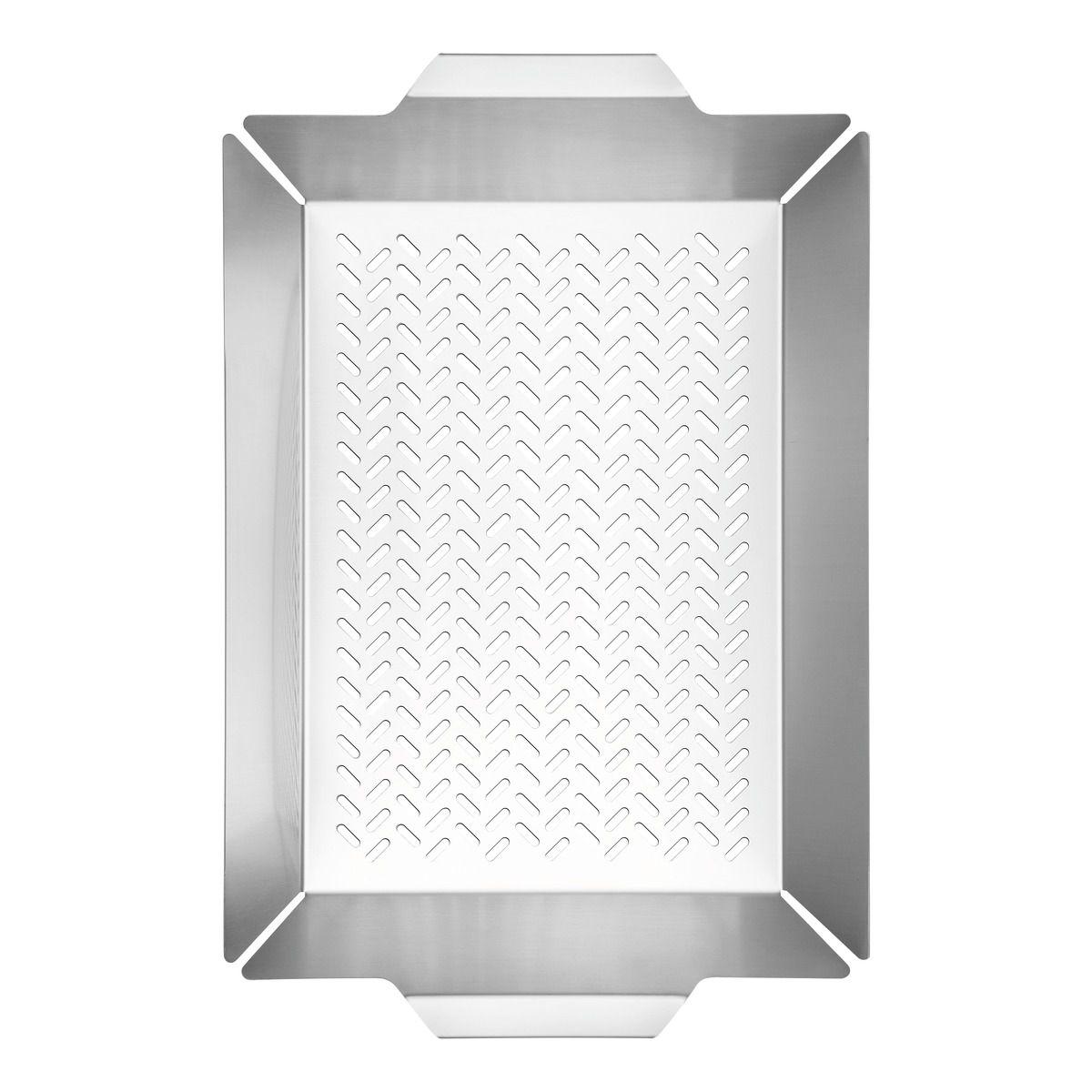 Grelha Tramontina Multiuso em Aço Inox 47 x 30 cm 61321/410   Lojas Estrela