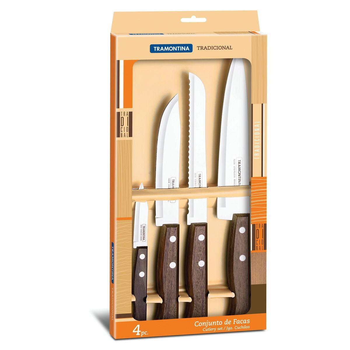 Jogo de facas 4 peças 22299/041 | Lojas Estrela