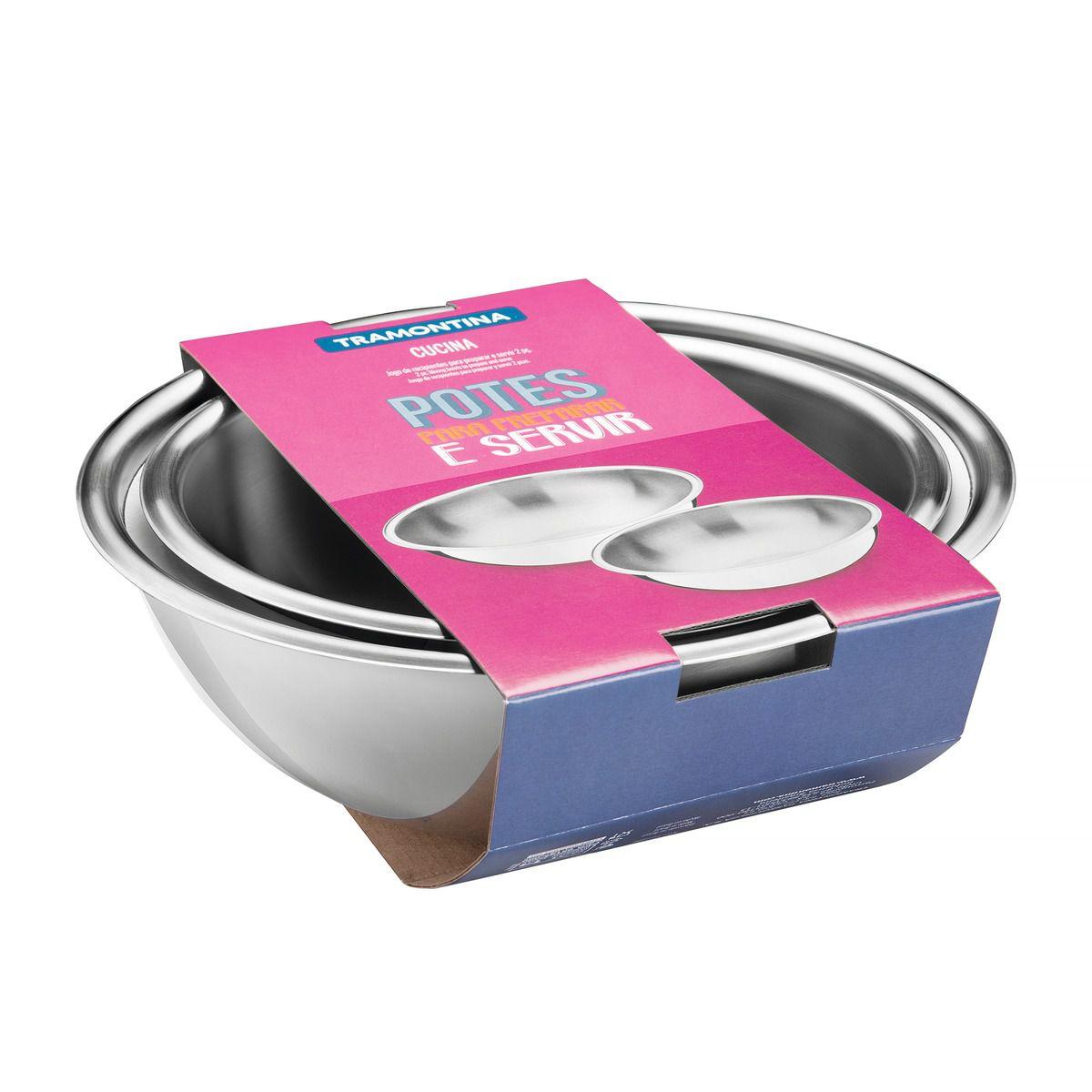 Jogo de recipientes para preparar e servir 2 pç. 64220/220 | Lojas Estrela