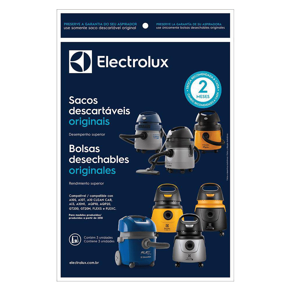 Kit 3 sacos Electrolux flex