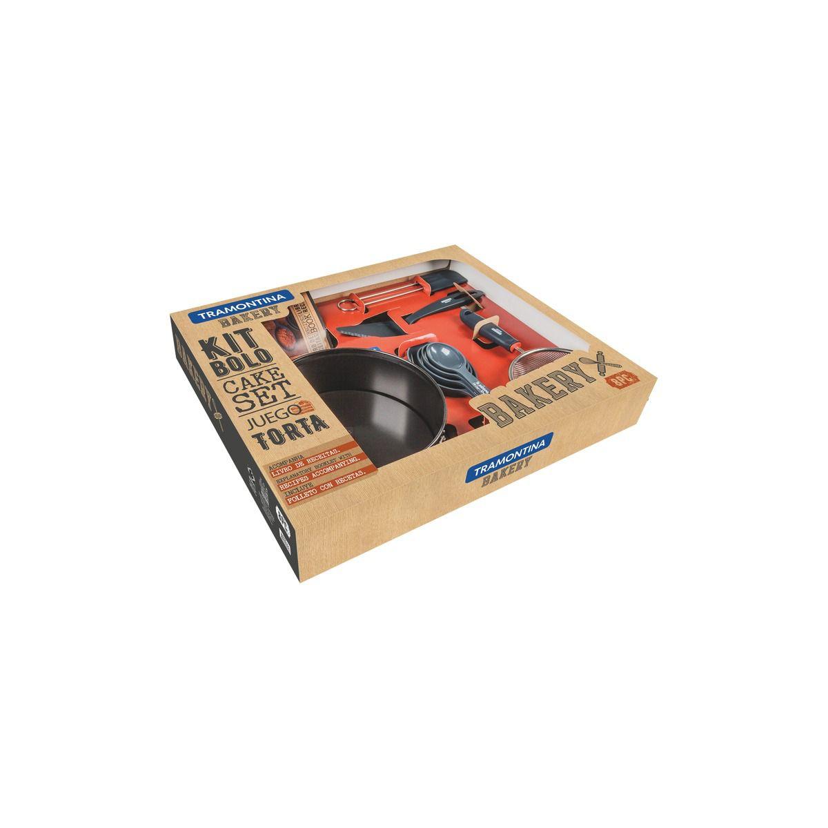 Kit para Bolo Tramontina em Aço Inox com Revestimento Interno Antiadaerente 8 Peças 29899/067 | Lojas Estrela