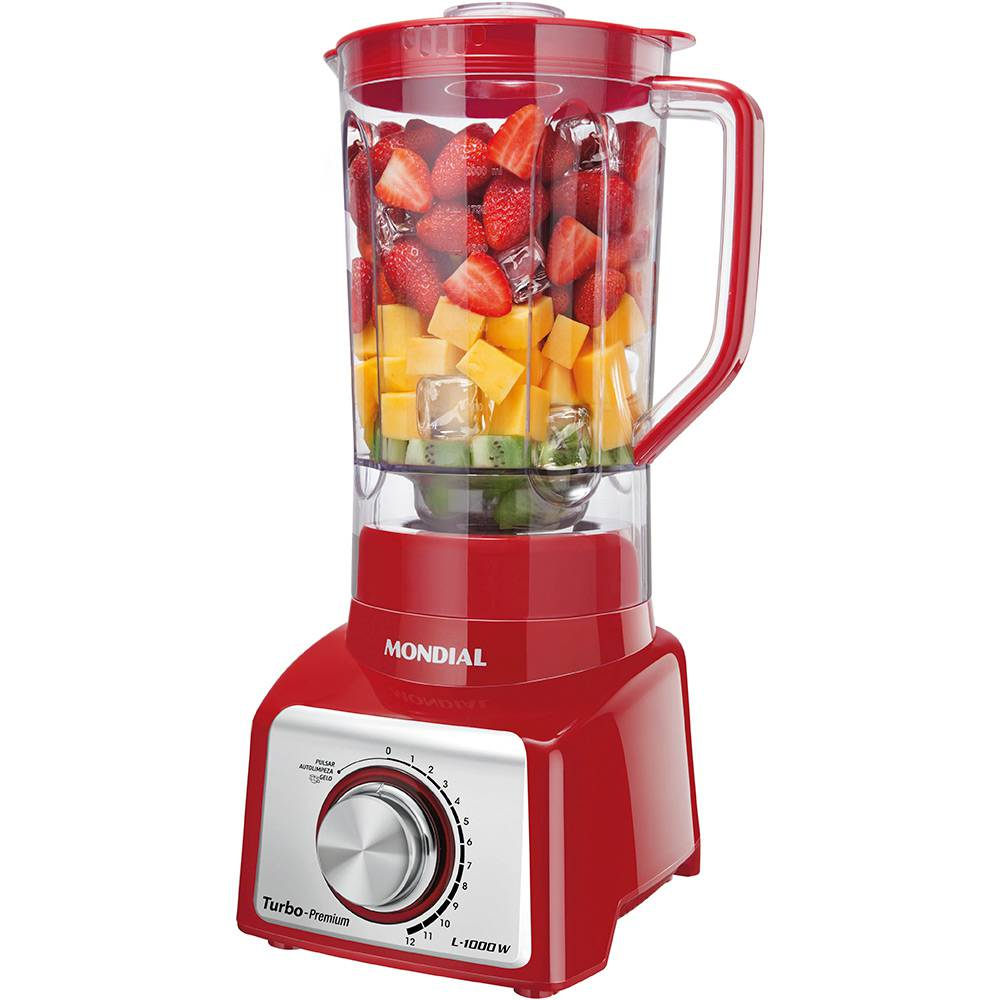 Liquidificador Mondial 110V  1000W Red