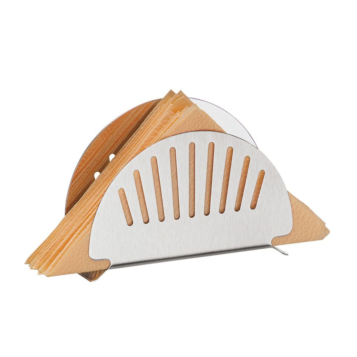 Porta Guardanapos Tramontina em Aço Inox com Detalhes Vazados 61144/120 | Lojas Estrela