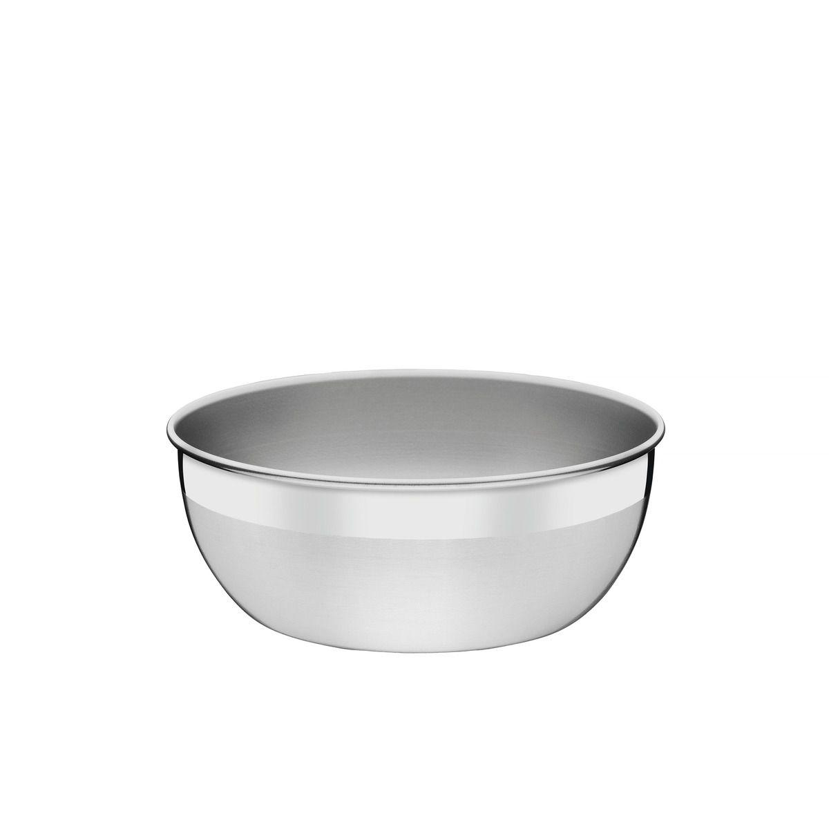 Pote redondo aço inox sem tampa plástica Ø 20cm 61220/201 | Lojas Estrela