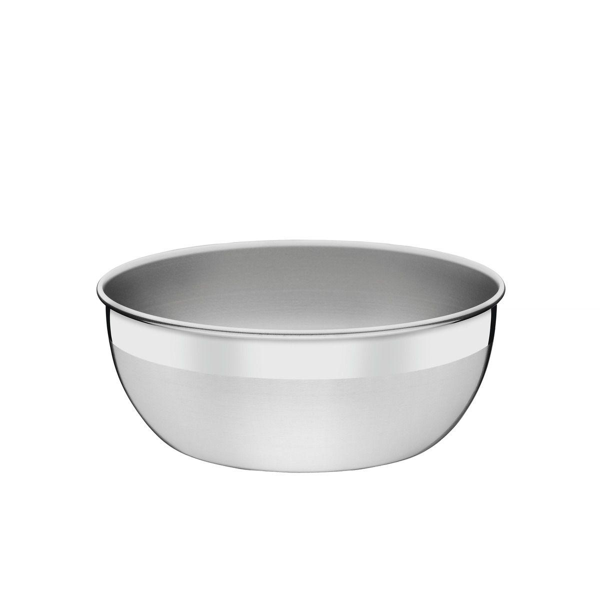 Pote redondo aço inox sem tampa plástica Ø 22cm 61220/221 | Lojas Estrela