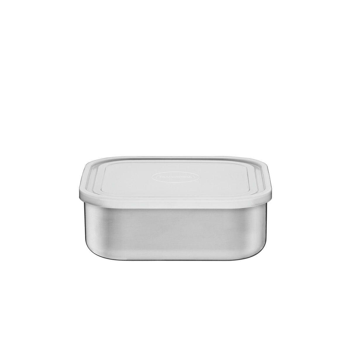 Pote Tramontina Freezinox em Aço Inox Quadrado com Tampa Plástica 16 cm 1,2 L 61229/160 | Lojas Estrela