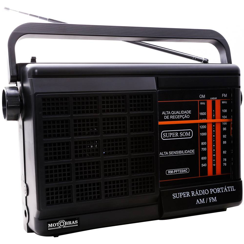 Rádio Portátil Motobras | Lojas Estrela