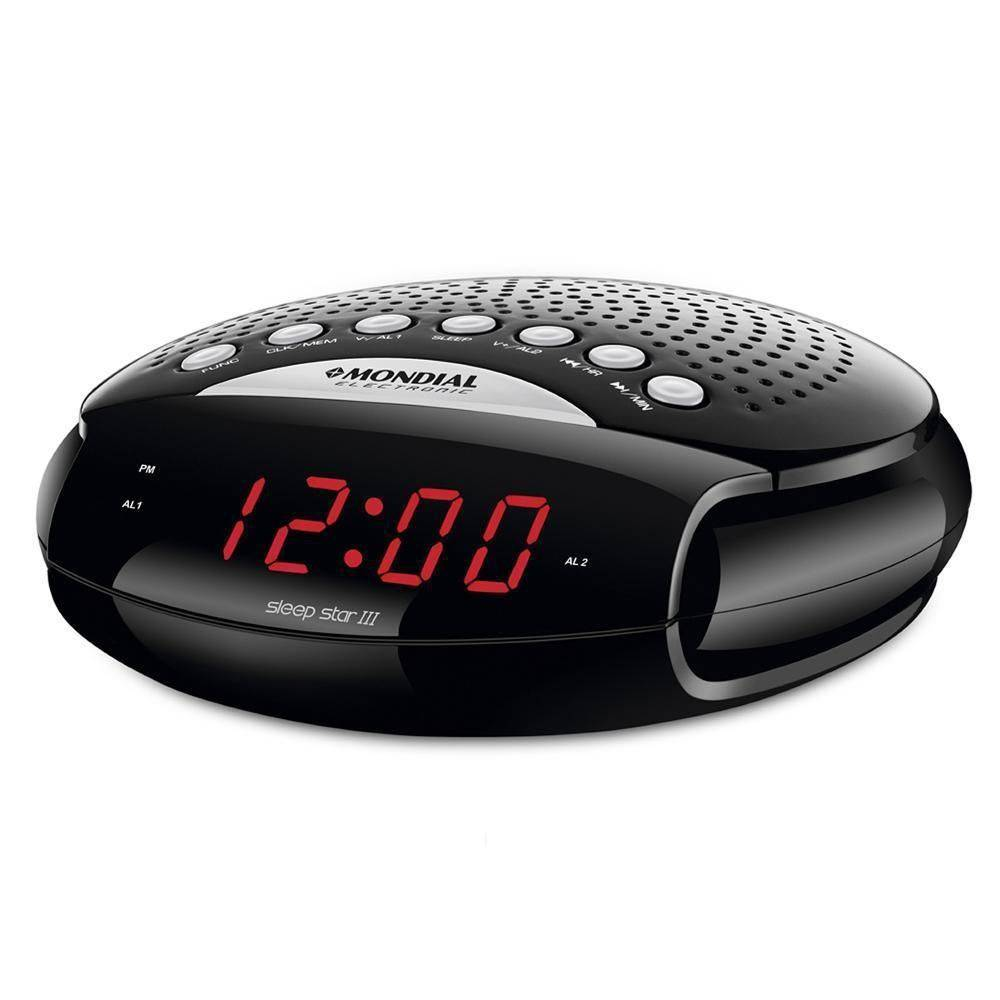 Rádio Relógio Sleep Star Mondial Bivolt | Lojas Estrela