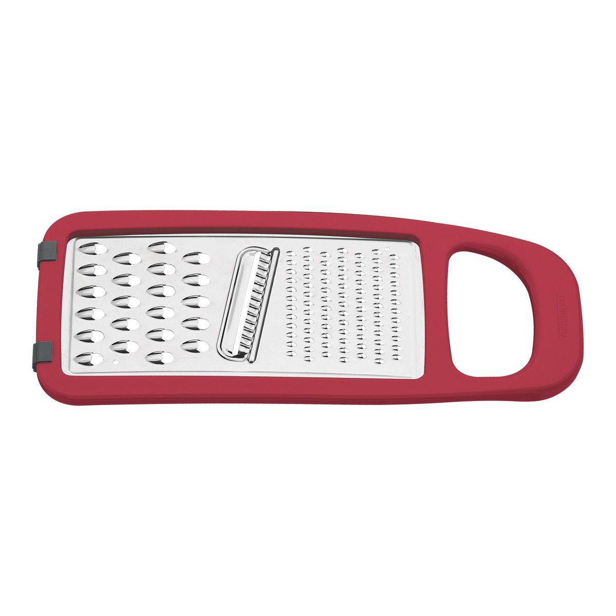 Ralador Tramontina Vermelho em Aço Inox e ABS com Base Emborrachada 25695/170 | Lojas Estrela