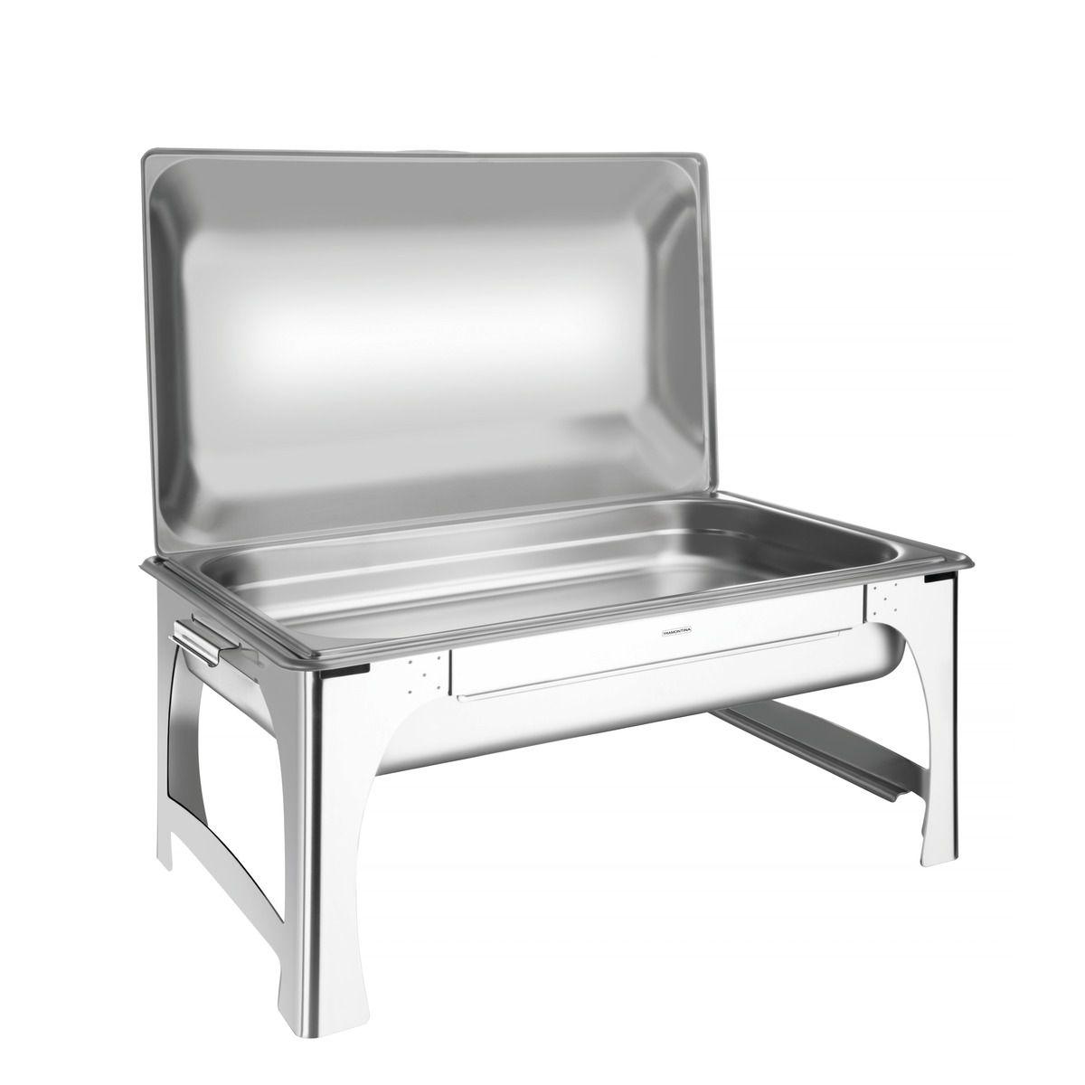 Rechaud banho-maria retangular com tampa removível aço inox 61040/213 | Lojas Estrela