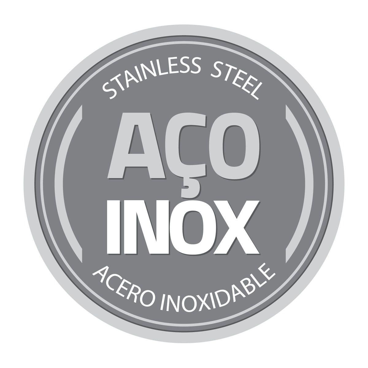 Saleiro Tramontina em Aço Inox com Tampa 61130/050   Lojas Estrela