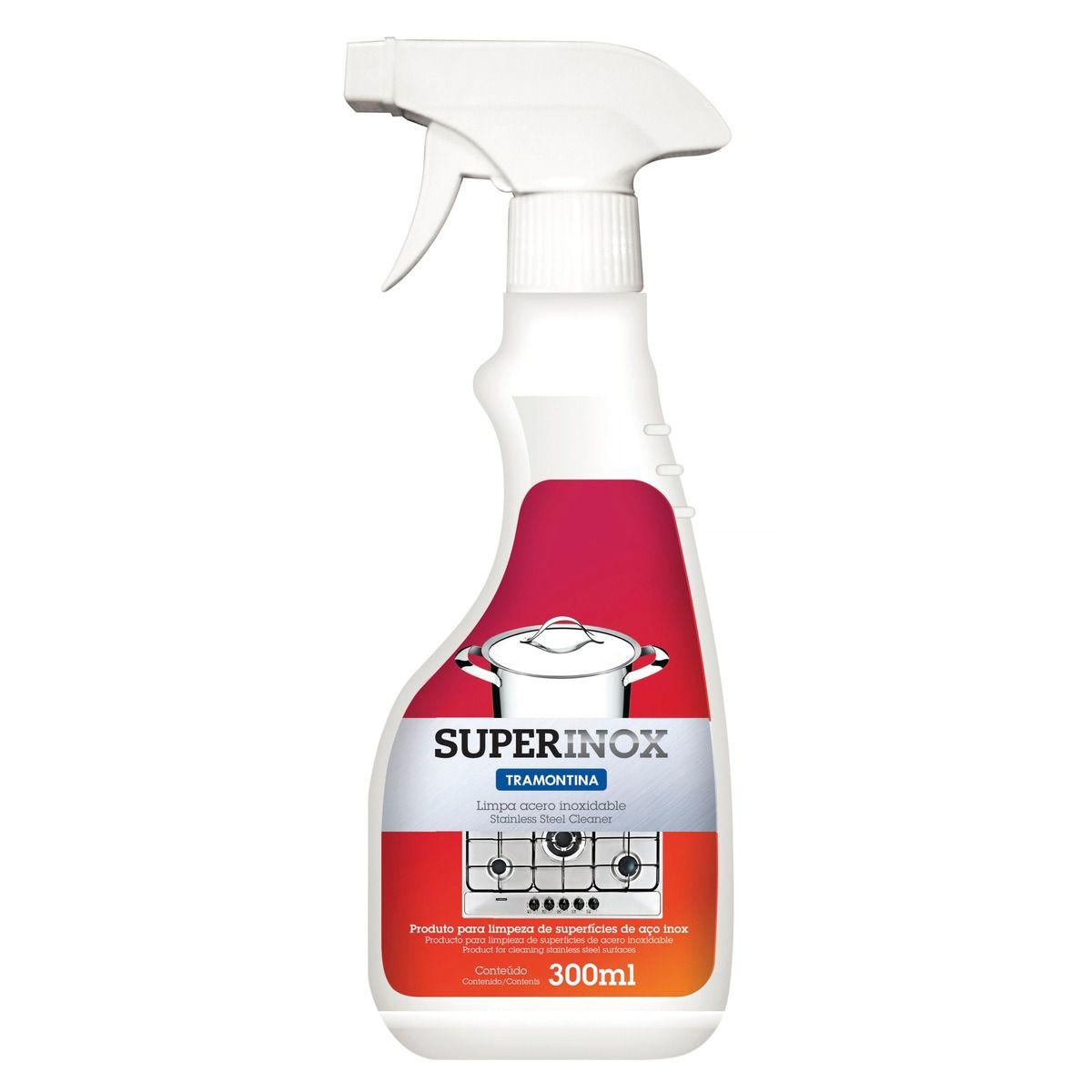 Spray para Polir e Remover Manchas Tramontina em Aço Inox 200 g 60900/050 | Lojas Estrela