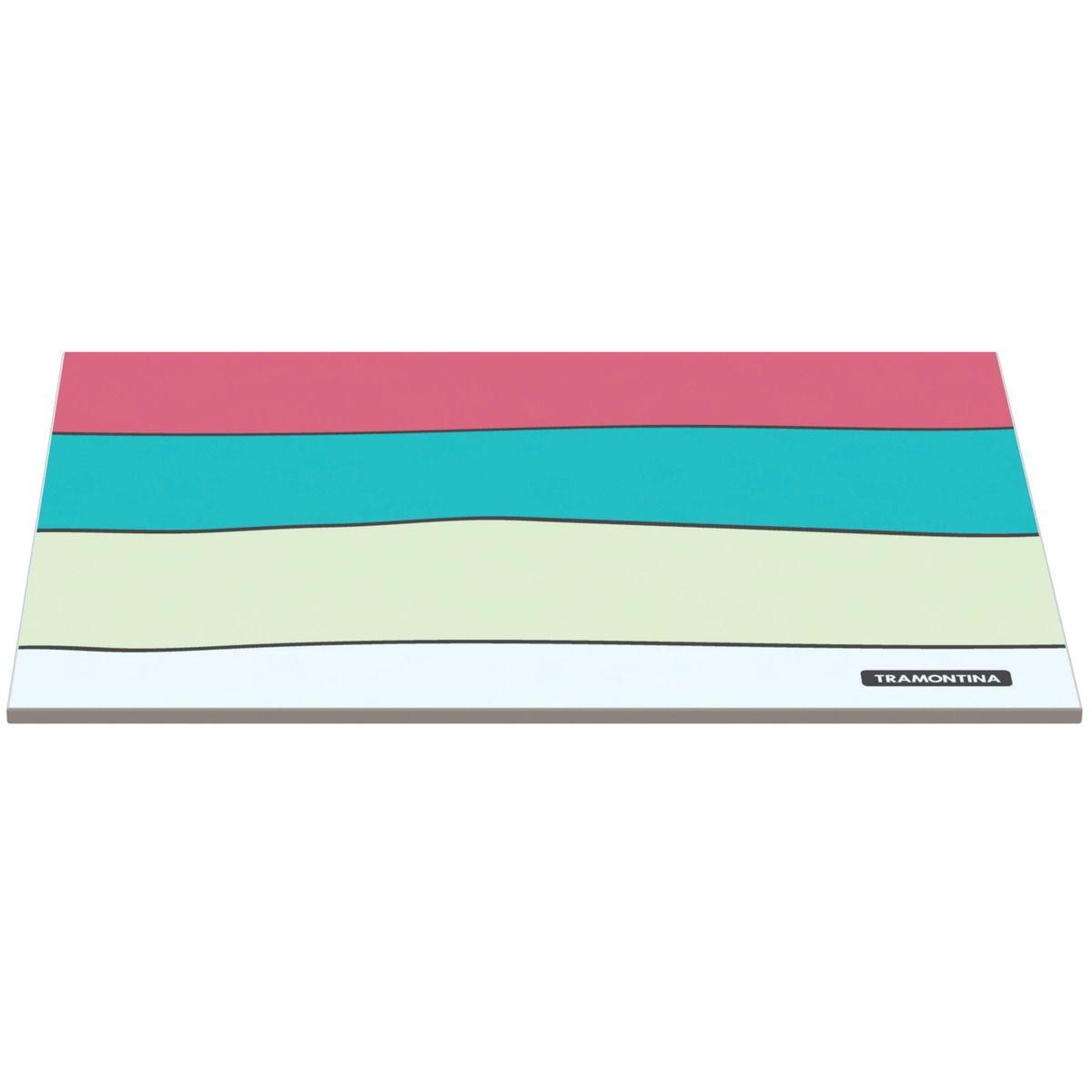 Tábua Tramontina Retangular em Vidro Branco com Estampa Colorida 25x35 cm 10399/002 | Lojas Estrela