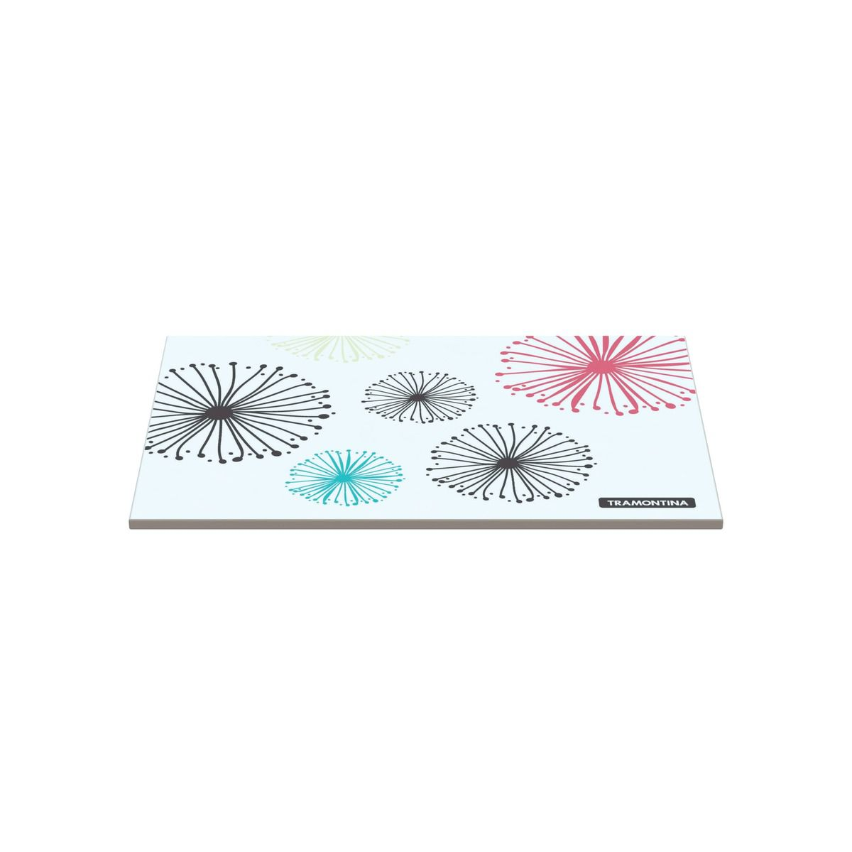Tábua Tramontina Retangular em Vidro Branco com Estampa Vermelha 20x30 cm 10399/001 | Lojas Estrela