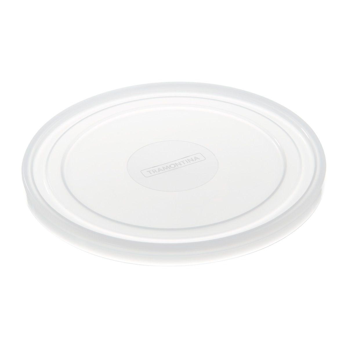 Tampa de Plástico Tramontina Freezinox Redonda 28 cm 61992/280   Lojas Estrela