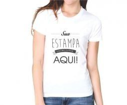 10 Camisetas Feminina Personalizadas Estampa Média (A4)