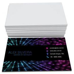 1.000 Cartões de Visita - 48x88mm - Couchê Fosco 300g - 4x0 - Laminação Soft Touch - Refile
