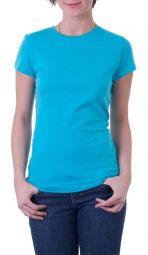 Camiseta Feminina Personalizada Colorida Estampa Média (A4)